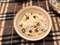 ムカゴ・サツマイモ・豆・・・ご飯 - その日・その日