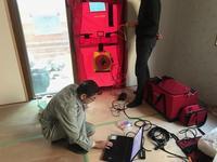 「深沢の家」気密測定 - HAN環境・建築設計事務所