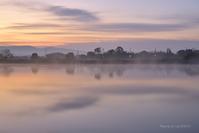茜色の朝は此処から…@ 水上池 - 東大寺が大好き