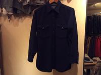 40's Pendelton navy wool shirt - BUTTON UP clothing