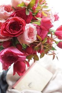 色とりどりWABARAレッスン、まだまだ続きます - お花に囲まれて