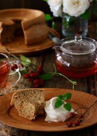 紅茶のシフォンケーキ(レシピ) - ゆきなそう  猫とガーデニングの日記