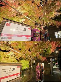 叡電・秋の二ノ瀬駅ライトアップ♯3 - あ お そ ら 写 真 社