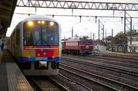 「きらきらうえつ」と「EL日本海庄内号」を並びで撮影&きらきらうえつを少し乗車 - Joh3の気まぐれ鉄道日記