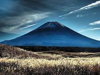 富士の高嶺に秋のススキ - 風の香に誘われて 風景のふぉと缶