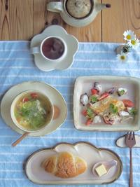 たこチーズの朝ごはん - 陶器通販・益子焼 雑貨手作り陶器のサイトショップ 木のねのブログ