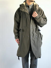 HANSENHooded Wool Lined Coat / BJARNE - Tech Army - 『Bumpkins putting on airs』