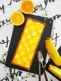 パイナップルとオレンジのレアチーズタルト♪ - This is delicious !!