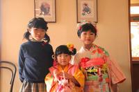 七五三三歳七歳家族着付け髪型ヘアスタイル着物メイクヘアアレンジ手作り髪飾りエスポワールスタイルさくら市美容室エスポワール - 美容室エスポワール