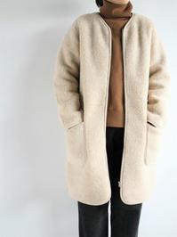 Cold BreakerWool Fleece Coat / Beige - 『Bumpkins putting on airs』