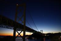 夜明けの関門橋 - 夕暮れ日記