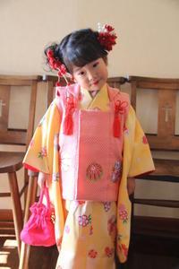 七五三三歳前撮りお詣り着付け髪型ヘアアレンジ着物さくら市美容室エスポワール - 美容室エスポワール