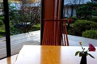 ロビーから見る四季桜 - 金沢犀川温泉 川端の湯宿「滝亭」BLOG