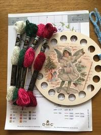 クリスマス柄のオーガナイザーとDMCの刺しゅう糸エトワール - y-hygge