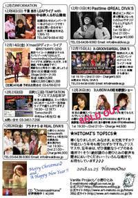 平成最後の12月のスケジュール♪ - オノヒトミ的ブログ