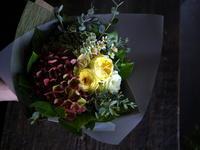 ワンちゃんの月命日に花束。真駒内柏丘にお届け。2018/11/25。 - 札幌 花屋 meLL flowers