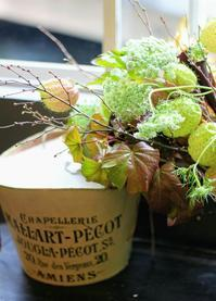 「秋の色と匂いを感じる花材」なにわのパリへ。 - 新しい地図~ やまよう篇(アンフィモンフルール)