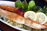 ■居酒屋メニュー【あき流・豪快に^^炙りハラス飯】 - 「料理と趣味の部屋」