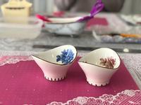 ポーセラーツのレッスンでアンティーク調の小鉢を制作! - Coucou a table!      クク アターブル!