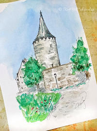 振り返って見たお城 - わたしの足跡2 ~ときどきパリ