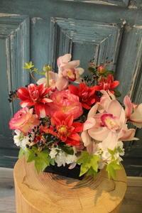 義理のお母さまへお誕生日の花 - 北赤羽花屋ソレイユの日々の花