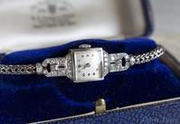 SOLD ★「サンタさんからの贈り物!?」OMEGA・1940年・カクテルダイヤモンドウォッチ - 欧州アンティーク・ジュエリー
