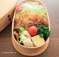鶏味噌カツ弁当 - 男子高校生のお弁当