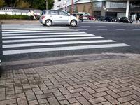 地行3丁目交差点南側(ガソリンスタンド側)段差解消 - 車いすで街へ 踏み出そう車輪の一歩 改善活動