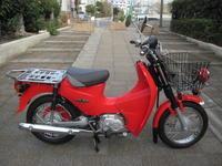 サンタの様なスーパーカブ110プロ - バイクの横輪
