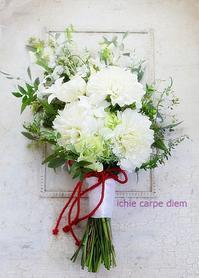 卒花嫁様アルバムホテル椿山荘東京の花嫁様へ白無垢と色打掛、和装のダリアのブーケ - 一会 ウエディングの花