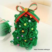 公民館でのゆび編みツリー作り♪ - ルーマニアン・マクラメに魅せられて
