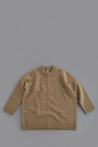 FIRMUMSuper 100 Mule Tweed Wool Big Knit (Camel) - un.regard.moderne