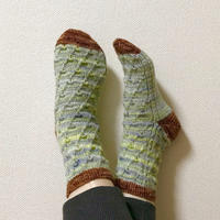 靴下完成 - セーターが編みたい!