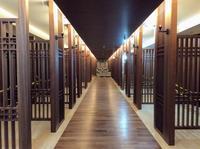 納骨堂、礼拝室の参拝口がほぼ完成しました - 設計事務所 arkilab