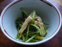 壬生菜と油揚げの豆乳味噌風味煮びたし - LEAFLabo
