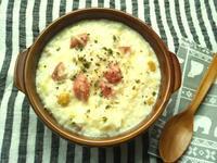 野菜スープの残りで、ドリア - Minha Praia