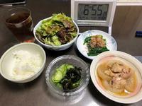 11/29本日の晩酌の肴は牛焼肉とつくねと水菜のさっと煮 - やさぐれ日記