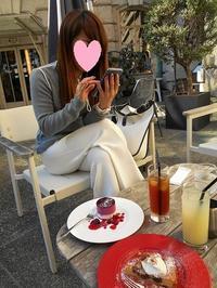 お外でカフェタイム - eri-quilt日記3