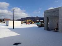 日高診療所の外構工事~冬を迎えて - ひだかの山に癒やされて
