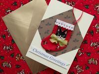 ミニ・ストッキングのクリスマス・カード -  Der Liebling ~蚤の市フリークの雑貨手帖2冊目~