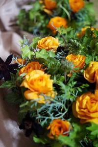 プレートコンポジション - お花に囲まれて