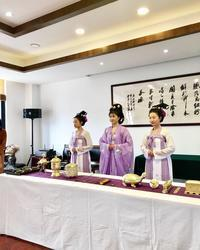 「中国国際茶文化研究会で学ぶ 泡茶法の歴史と茶藝 評茶体験研修」no.3 - お茶をどうぞ♪