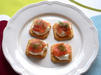 <イギリス菓子・レシピ> スモークサーモンのカナッペ【Smoked Salmon Canapés】 - イギリスの食、イギリスの料理&菓子