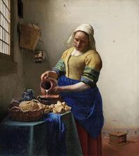 フェルメールの『牛乳を注ぐ女』の「おでこ」で語る具象画の魅力 - ルドゥーテのバラの庭のブログ