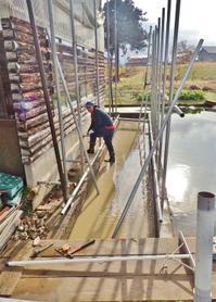 兼業農家は降雪前に物置の製作を始めました① - 浦佐地域づくり協議会のブログ
