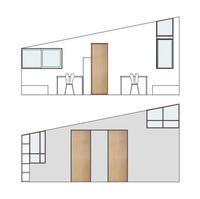 外部窓と室内窓のデザイン - kukka  kukka