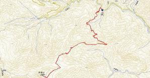 手箱山 大瀧の滝から 往復 約13km 標高差 約1100m - おじょもの山のぼり                ohara98jp@gmail.com