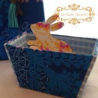 『逆台形の小さな箱』 - カルトナージュ教室 & ハンドクラフト教室 ~ La fraise blanche ~ ラ・フレーズ・ブロンシュ
