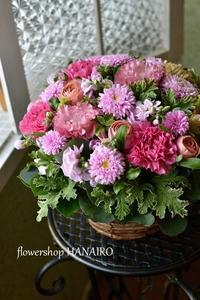 pink mixでお供えのフラワーアレンジメント。 - 花色~あなたの好きなお花屋さんになりたい~