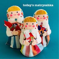 今日のマトリョーシカ スェーデンマトちゃん - フェルト手芸作家「PANENKA」北向邦子「わたしの毎日」